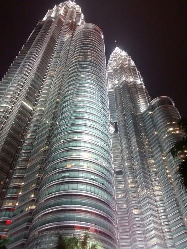 Petronas Twin Towers at night, Malaysia